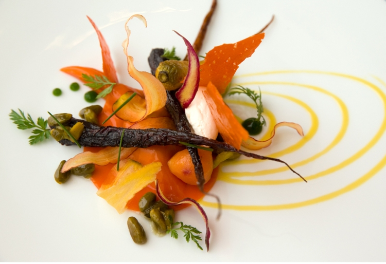 The carrot course at Grace restaurant on the near west side of Chicago, Wednesday, January 30, 2013. (Alex Garcia/Chicago Tribune) B582682127Z.1 ....OUTSIDE TRIBUNE CO.- NO MAGS, NO SALES, NO INTERNET, NO TV, CHICAGO OUT, NO DIGITAL MANIPULATION...